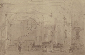 Interieur van de Bakenesserkerk te Haarlem