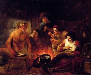 Sater bezoekt boeren  (Aesop, Fables, J. de La Fontaine, V, 7)
