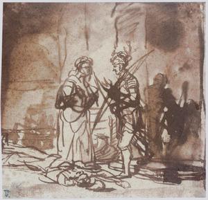 Jael toont Barak het lichaam van Sisera (Richteren 4:22-23)