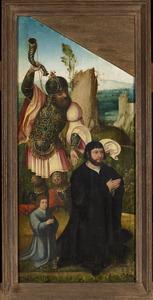 De H. Eustachius of de H. Hubertus (?) met stichters