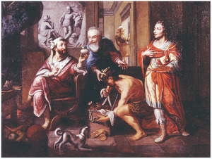 De romeinse consul Manius Curius Dentatus wijst de geschenken van de Samnitische gezanten af