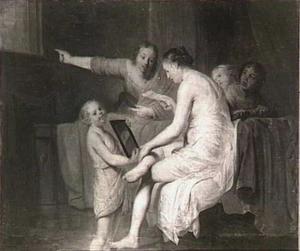 Batseba in het bad, een brief van koning David lezende (2 Samuël 11)