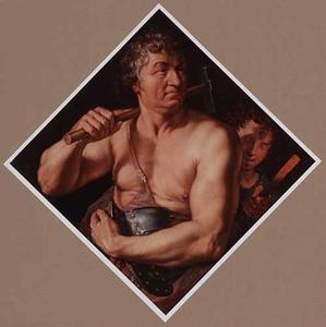 Portrait historié van Jan Govertsz. van der Aer als Vulcanus