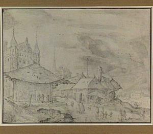 Praag, Kleinseitnerring met toren van de Nikolaikerk