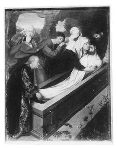 Altaarstuk met de Zeven Smarten van Maria: De graflegging (rechts, onder)
