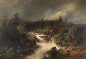Watermolen bij brullende bergbeek