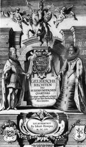 Titelpagina voor Gelresche Rechten Des Ruremundtschen Quartiers, Roermond 1620