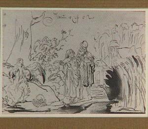 De engel verschijnt aan Manoach en zijn vrouw (Richteren 13:9-11)