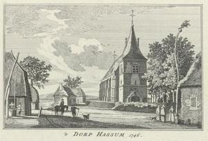 Het dorp Hassum (Duitsland)