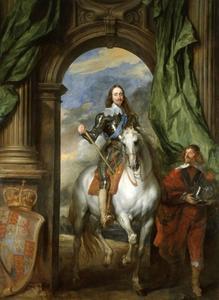 Ruiterportret van Charles I van Engeland (1600-1649) met zijn opperstalmeester M. de Saint-Antoine (?-?)