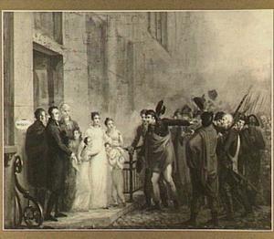 Mevrouw Kemper-de Vries stelt de opgewonden Leidse burgerij gerust, 24 november 1813