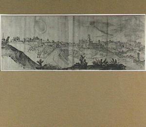 Perugia, uit het oosten gezien (van links naar rechts: San Pietro, Porta San Pietro, San Domenico)
