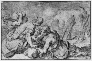 De parabel van het onkruid onder het tarwe: het oogsten van het tarwe (Mattheus 13:25)
