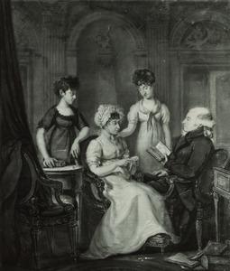 Portret van Jean Henri (de) Chatelain (1761-1831), Jeanne Cornelie van Homrigh (....-....) en kinderen