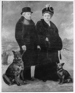 Portret van Hubertus Johannes Begas (1856-?) en Anna Catharina Adams (1855-?)