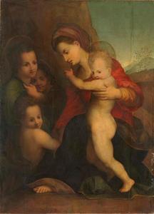 Maria met kind, Johannes de Doper als kind en engelen