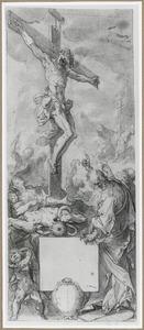 De verering van de koperen slang als prefiguratie van de verering van Christus aan het kruis