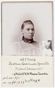Portret van Justina Geertruida Henriette Ketting (1871-1937)
