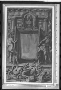 Ontwerp voor de titelpagina van Annales Ducum Seu Principum Brabantiae Totiusque Belgii, III