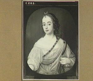 Portret van een vrouw als Diana, mogelijk Mary Killegrew (1627-....)