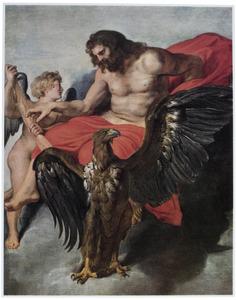 Amor smeekt Jupiter om met Psyche te mogen trouwen (Apuleius, Metamorfosen 6.22)