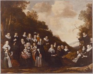 Familieportret, waarschijnlijk van Jan Danielszn. de Marez (1596-1665), Elisabeth de Schilder (...-1648) en hun familieleden