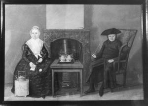 Dubbelportret van Derk van Ommeren (?-1800) en Anna Elisabeth Kool (?-1818)