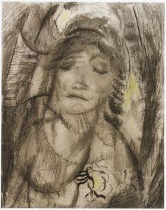 Portret van mevrouw Jeanne van der Vuurst de Vries-Godin (studie)