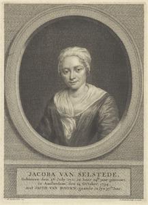 Portret van Jacoba van Selstede (1711-....)