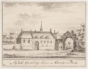 Het Sint-Jobs-gasthuis in 16de-eeuwse toestand