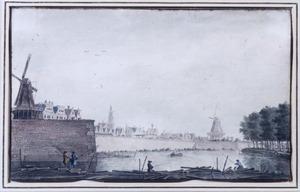 De stadswal bij de Raampoort te Amsterdam