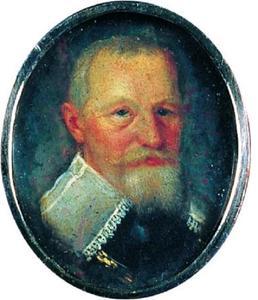 Portret van de geleerde Holger Rosenkrantz (1574-1642) van Rosenholm