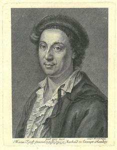 Portret van Martin Tyroff, kunsthandelaar en graveur te Neurenberg (1704-1759)