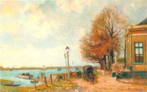 Gezicht op de rivier de IJssel bij het Kater-veer