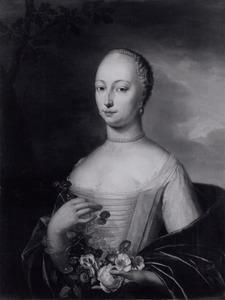 Portret van Elisabeth de Bruin