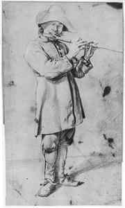 Fluitspelende man