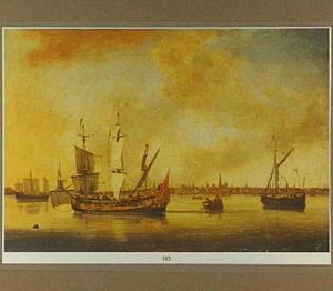 Schepen op de Schelde voor Antwerpen