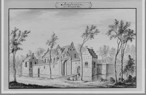 Voor- en rechterzijde van het oude huis Amaliastein anno 1607