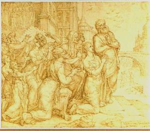 Suzanna en haar verwanten danken God voor hun redding (Daniël 13:63)