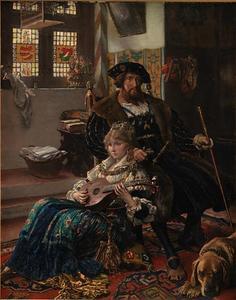 Koning Christian II (1481-1559) en zijn Nederlandse minnares Dyveke