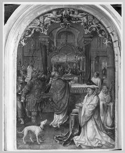 De moord op de H. Thomas Becket in aanwezigheid van de stichter