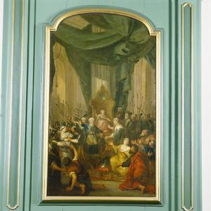 Joas wordt tot koning wordt uitgeroepen; Atalja scheurt zich de klederen en wordt door Jojada ter dood veroordeeld (2 Koningen 11:12-15)