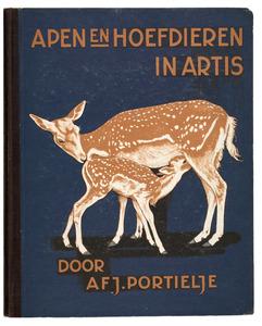 Albumomslag voor het Verkade album 'Apen en hoefdieren in Artis'