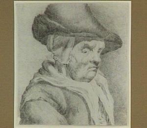 Oude vrouw met hoed