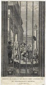 Koning Philips IV van Spanje  doet in 1648 afstand van de Nederlanden (het zogenaamde Vredesglas)