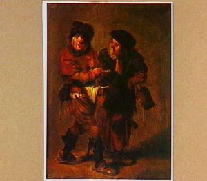 Een marskramer en een oude vrouw