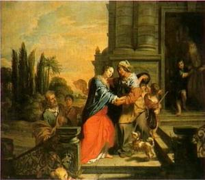 De ontmoeting van Maria en Elisabeth