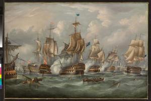 De Slag om Trafalgar: H.M.S. Victory brengt het lichaam van Lord Nelson terug naar Gibraltar