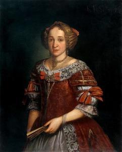 Portret van Maria Elisabeth Toperzer (1655-1718), echtgenote van Johann Jacob von Wiederkehr
