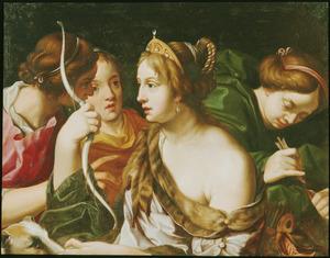 Diana omringd door drie nimfen